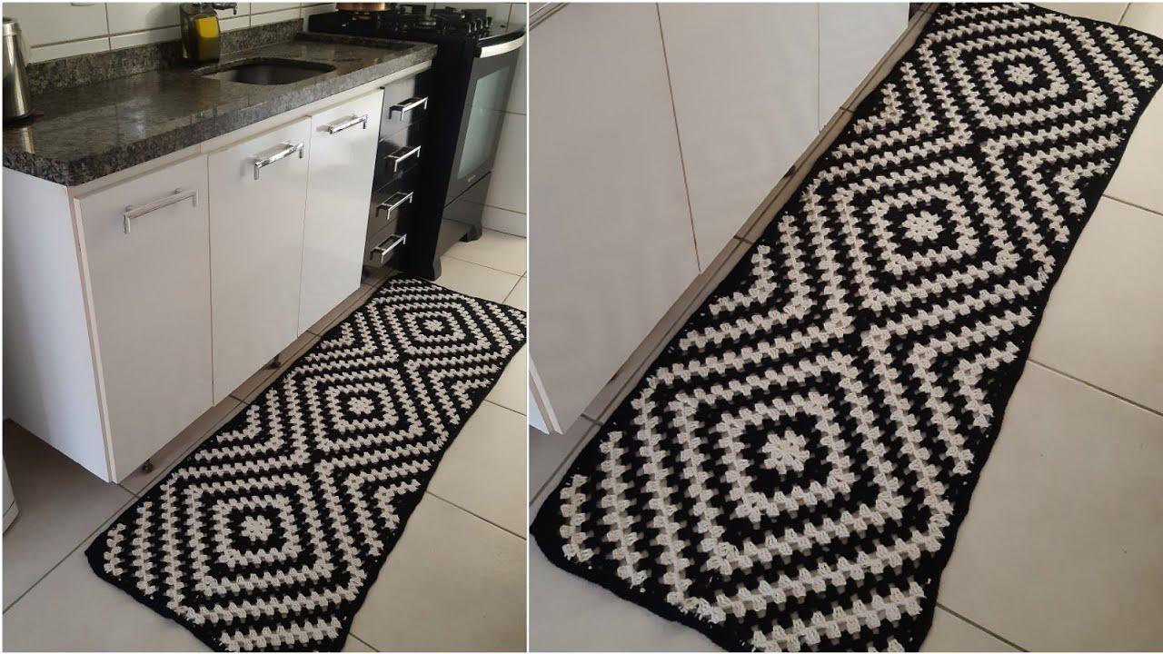 Passadeira Mosaico ♡ Tutorial Crochê Passo a Passo