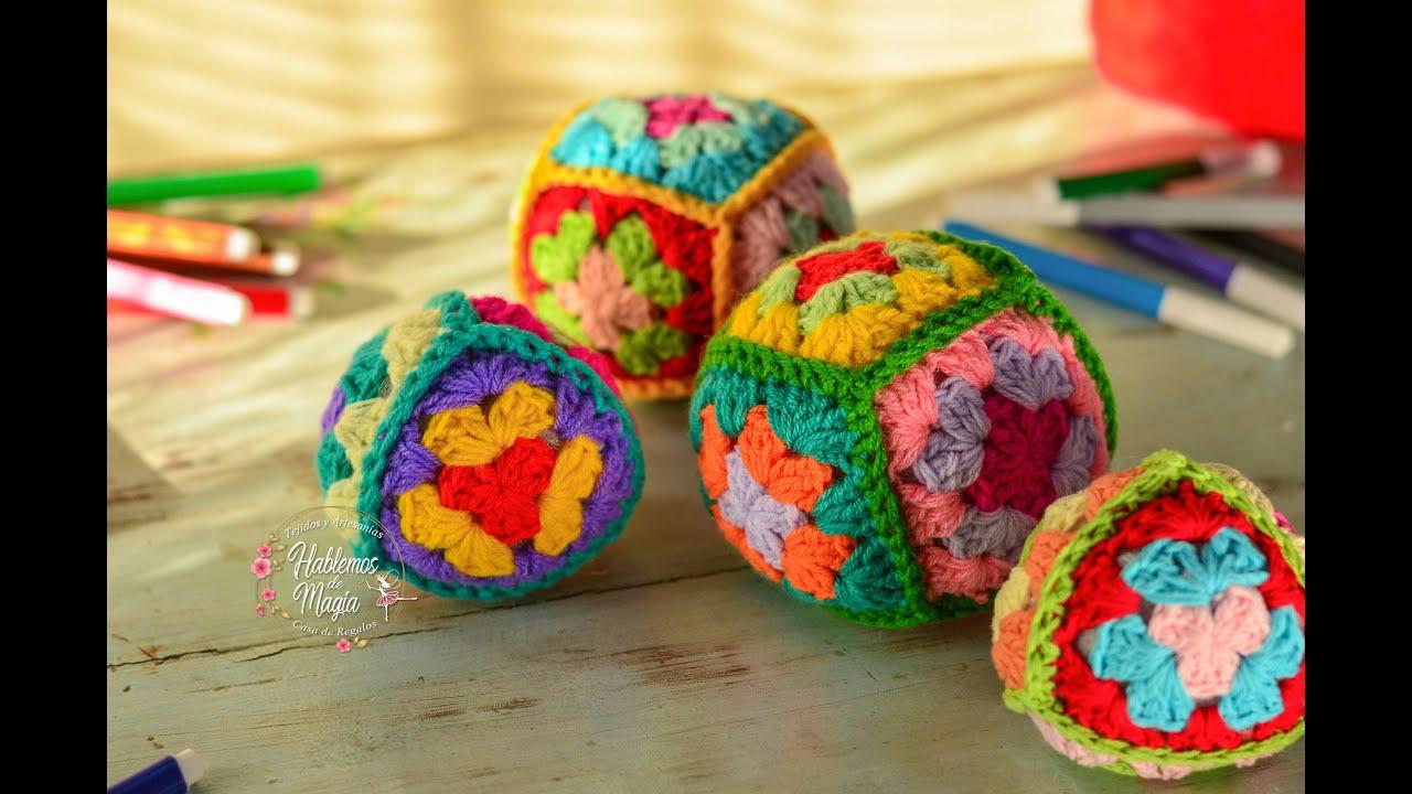(Pelotas de grannys) Paso a paso en crochet.