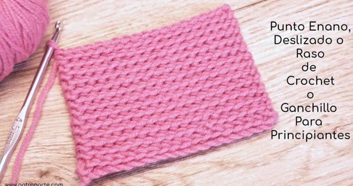 Punto Enano, Deslizado o Raso de Crochet - Ganchillo Para Principiantes Paso a Paso #crochet