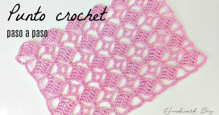Punto de cuadros a crochet paso a paso