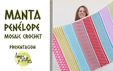 🌈 RETO MANTA PENÉLOPE 🌈   Mosaic Crochet - Ganchillo   Presentación   Lanas y Ovillos