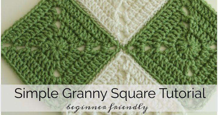 Simple Crochet Granny Square - Beginner Friendly