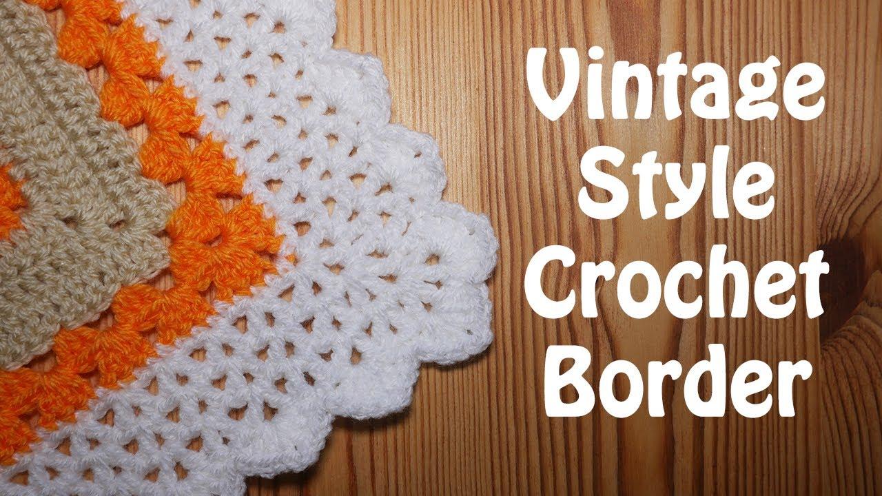 Simple Vintage V Stitch Crochet Border - Elegant finish for your blankets!