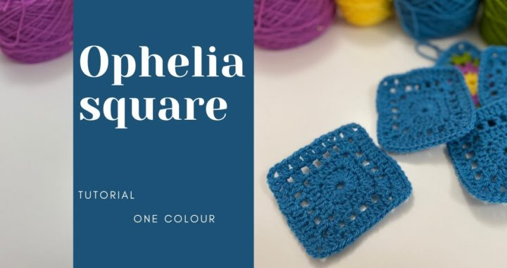 Single Colour Granny Square Pattern / Ophelia Granny Square Crochet