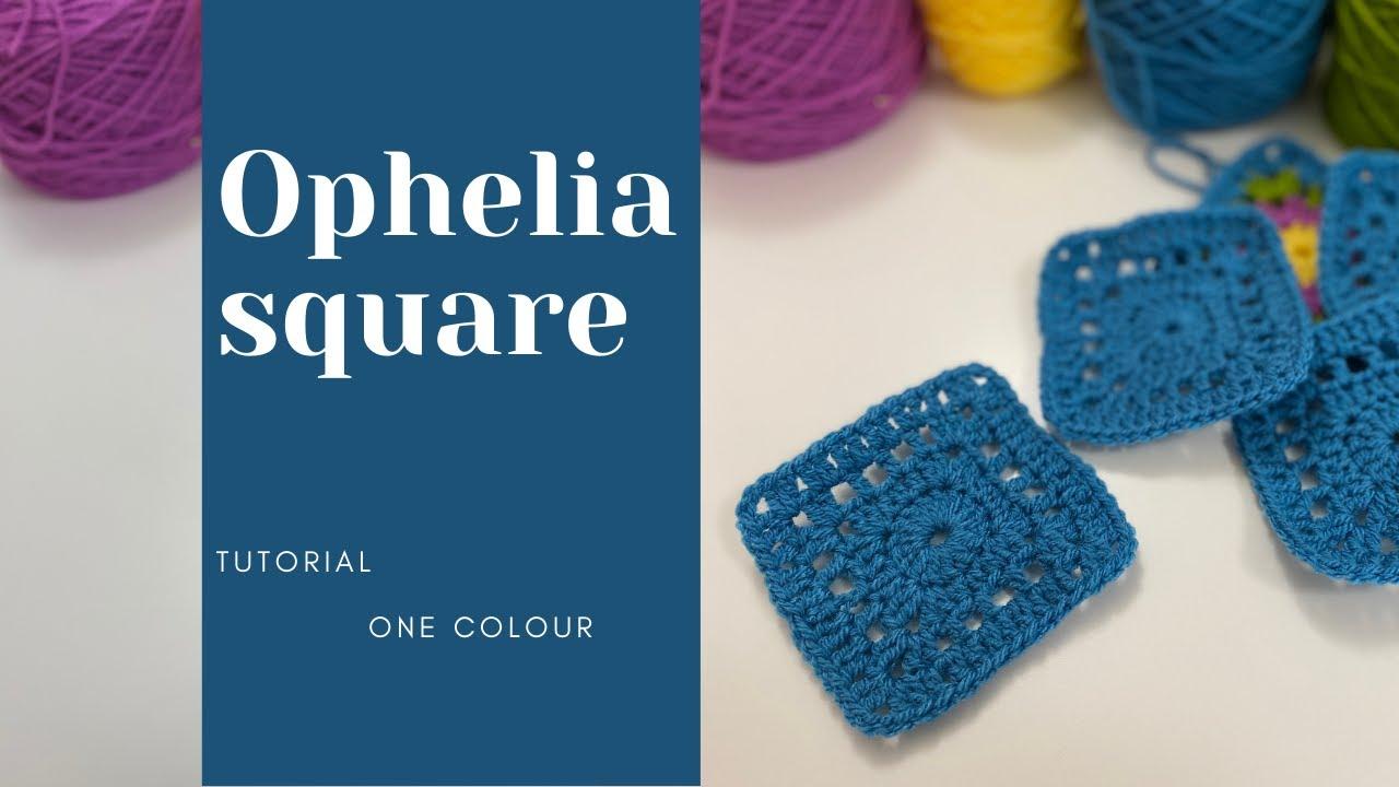 Single Colour Granny Square Pattern / Ophelia Granny Square Crochet
