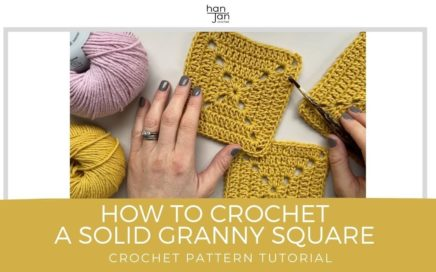 Solid Granny Square Crochet Motif Tutorial with Free Crochet Blanket Pattern