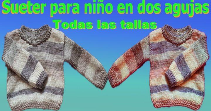 Sueter Jersey para niños tejido en dos agujas Todas las tallas parte #1 / Gentleman's sweater