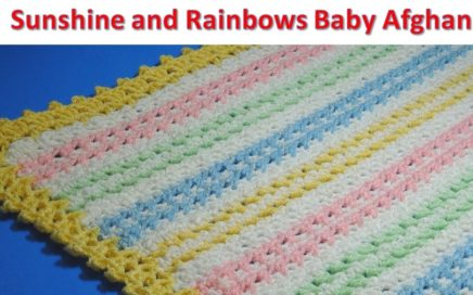 Sunshine and Rainbows Baby Afghan - Crochet Tutorial - EASY TO MAKE  - #ICEYARNS