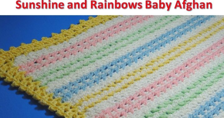 Sunshine and Rainbows Baby Afghan - Crochet Tutorial - EASY TO MAKE  - #ICEYARNS