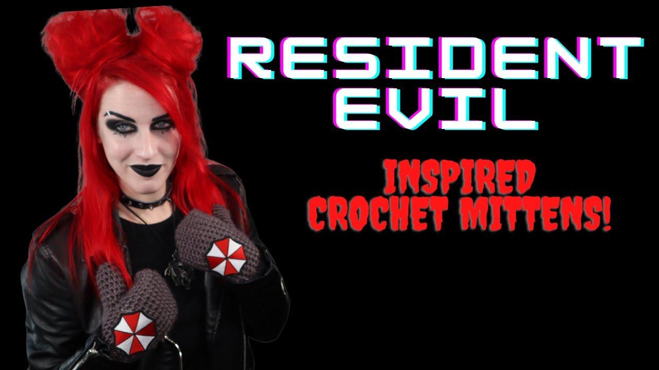 Super Easy Beginner Friendly Crochet Mittens | Resident Evil Inspired Accessories