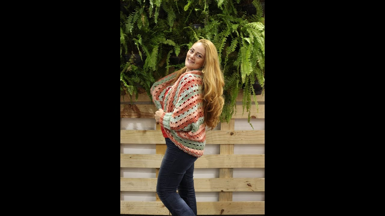 Sweater Retângular em Crochê