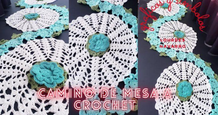 TCL// Camino de mesa tejido a crochet// graficos y simbolos para tejer un camino de mesa