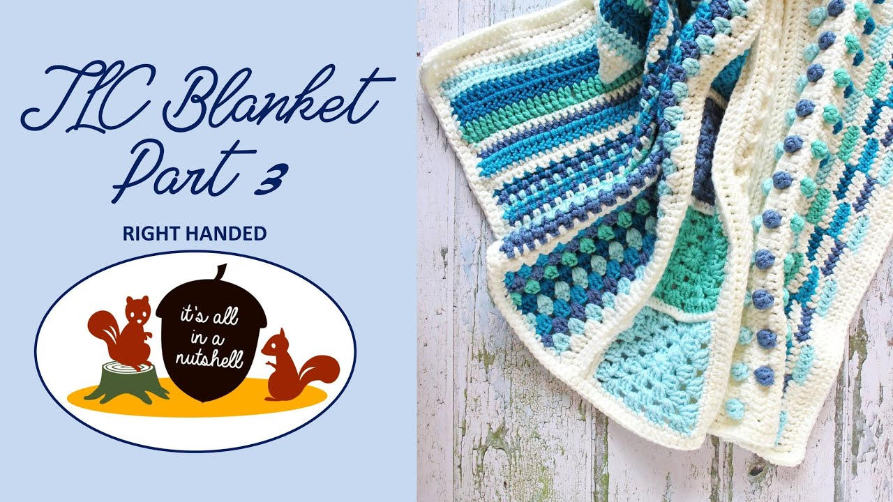 TLC Blanket Part 3 - RIGHT HANDED -  Learn to Crochet