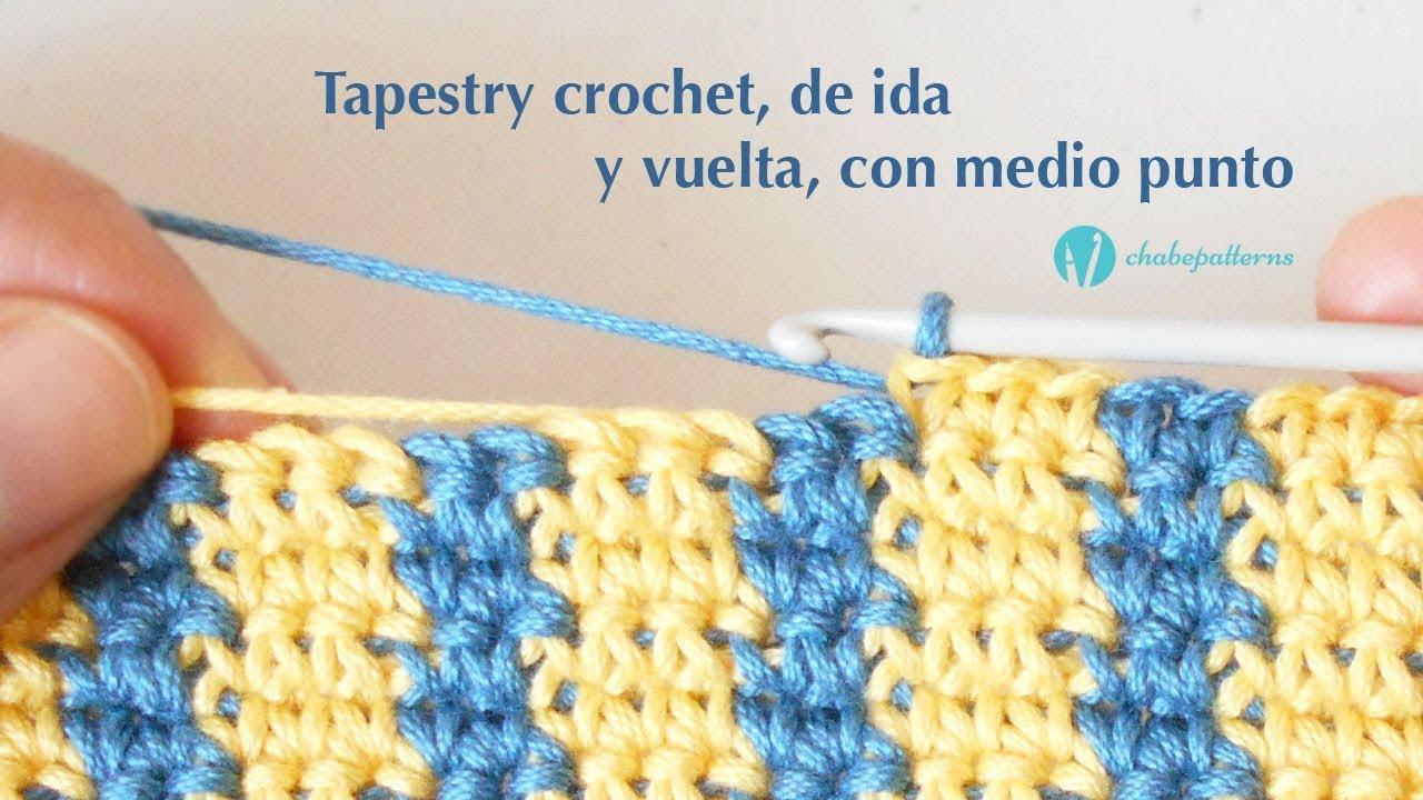 Tapestry Crochet, de Ida y Vuelta, con Medio Punto
