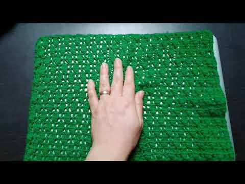 Tejido crochet: punto rombo muy fácil y bonito