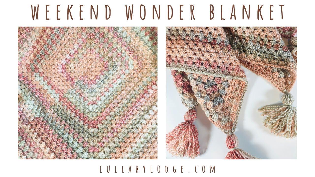 The Weekend Wonder Giant Granny Square Blanket Crochet Tutorial