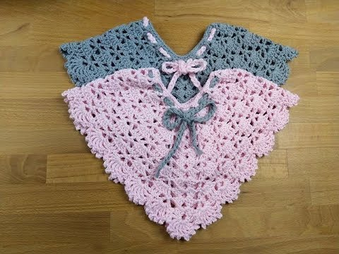 Twisty Elise Newborn Poncho (+All Sizes) - Crochet Tutorial - English