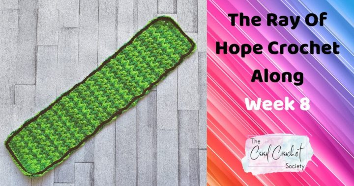 Week 8 Of The Ray Of Hope Crochet Along By The Cool Crochet Society