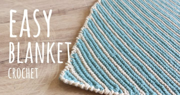 YES, IT'S CROCHET!😲 HOW TO MAKE AN EASY BLANKET | Garter Crochet Stitch | Lanas y Ovillos in English