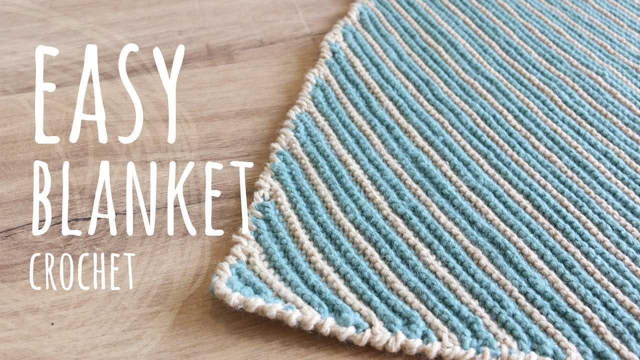 YES, IT'S CROCHET!😲 HOW TO MAKE AN EASY BLANKET   Garter Crochet Stitch   Lanas y Ovillos in English