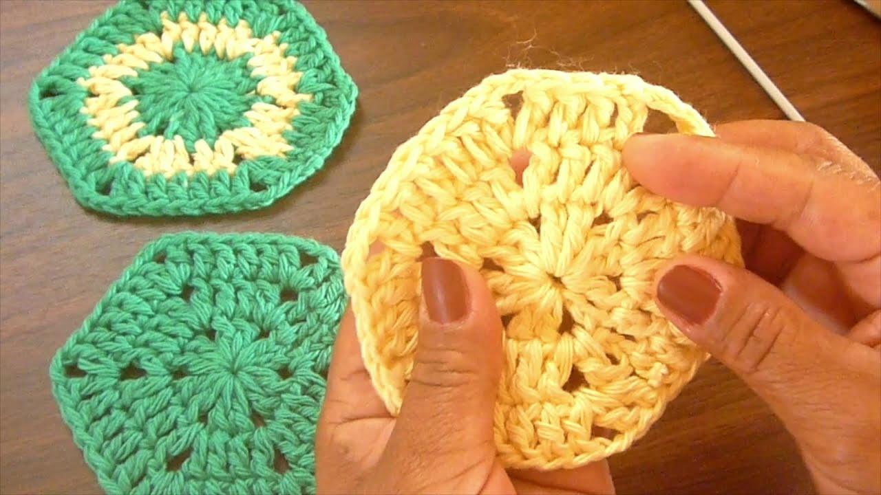 #crochet #ganchillo #paraprincipiante Hexágono básico a ganchillo - Crochet