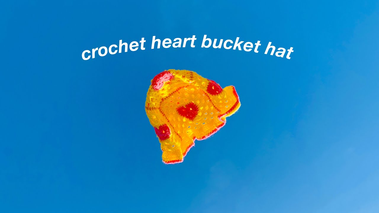 heart granny square bucket hat tutorial for beginners!