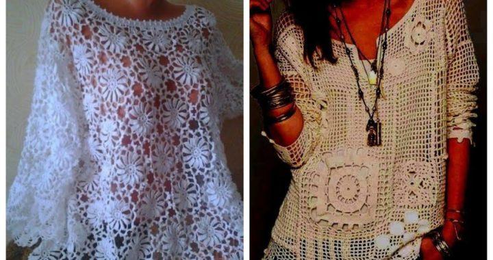 #short video of new elegant trending 2021 crochet knitting blouses