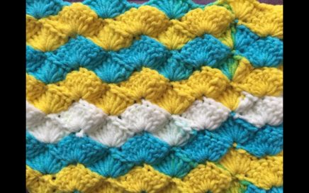 Crochet Wavy Shell | One Row Repeat