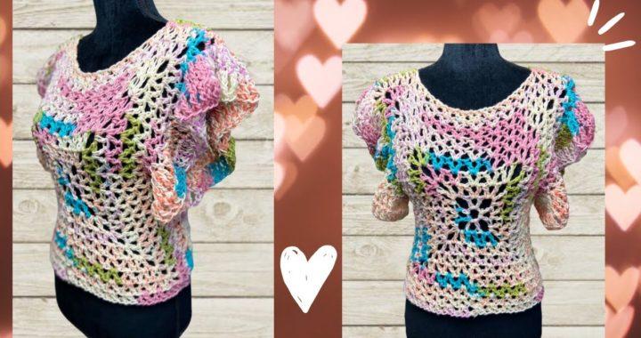BLUSA CON 2 CUADRADOS A CROCHET #crochetparaprincipiantes