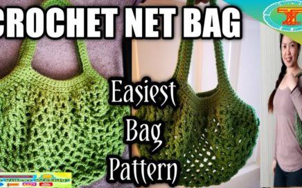 CROCHET NET BAG | EASIEST CROCHET BAG PATTERN | Fashion crafts with Tzai