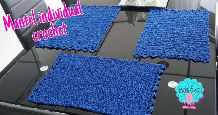 Mantel individual a crochet paso a paso