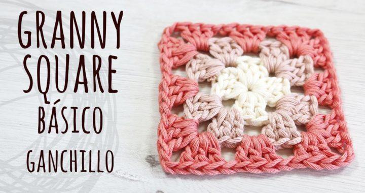 CÓMO TEJER GRANNY SQUARE BÁSICO FÁCIL | Ganchillo - Crochet | Lanas y Ovillos