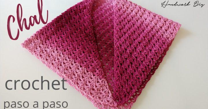Cómo tejer chal a crochet super fácil y rápido   Paso a paso