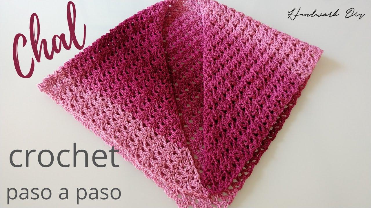 Cómo tejer chal a crochet super fácil y rápido | Paso a paso