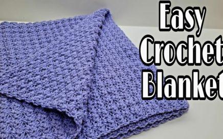 Easy Crochet Blanket | Crochet Beginner Blanket | Bag O Day Crochet Tutorial