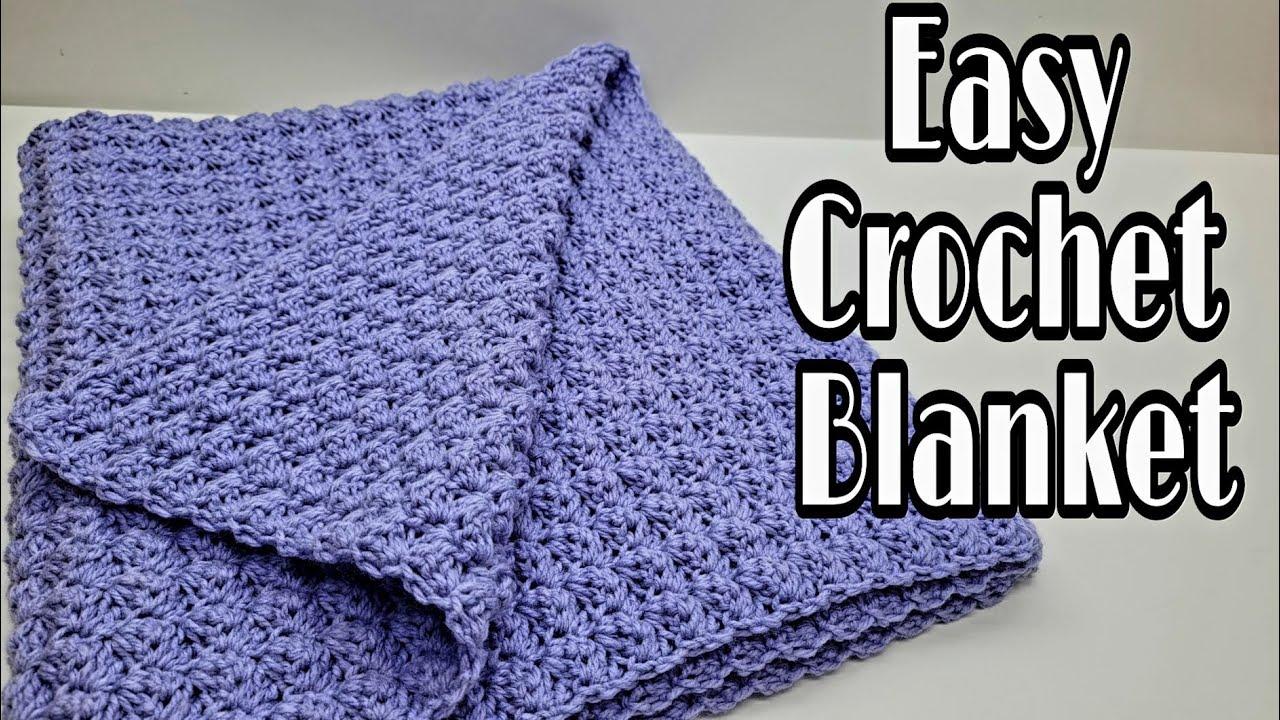 Easy Crochet Blanket   Crochet Beginner Blanket   Bag O Day Crochet Tutorial