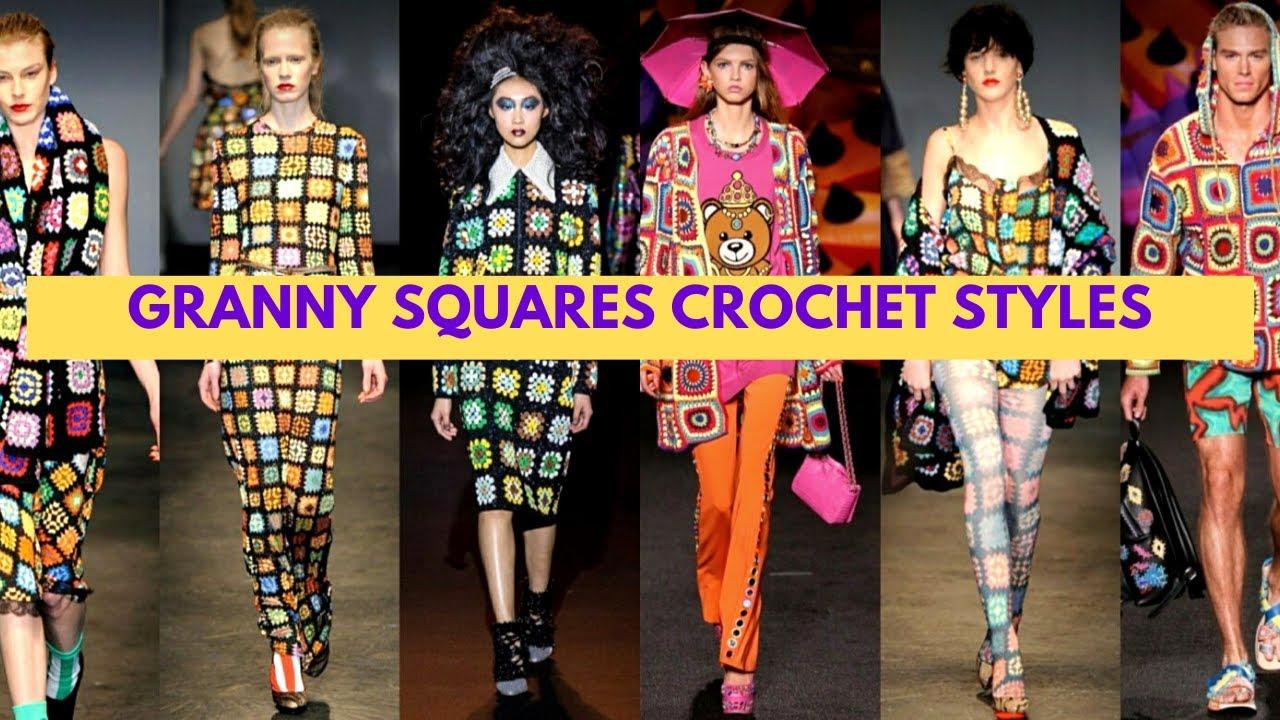 GRANNY SQUARES CROCHET STYLES