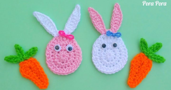 How to crochet Easter Egg Bunny