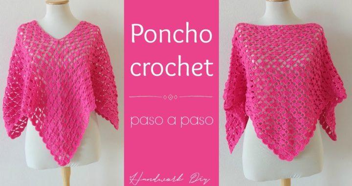 Poncho crochet tejido paso a paso
