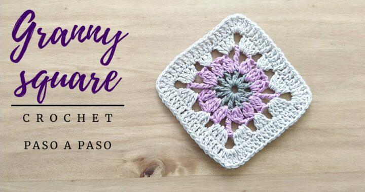 Como tejer Granny Square crochet sencillo y paso a paso