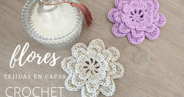 Cómo tejer flores a crochet fácil tutorial paso a paso | Tapetes de crochet decorativos
